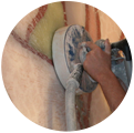 Шлифовальная машина для шлифовки стен, колонн, сложного рельефа, мозаичных панно